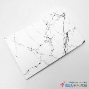 愛說話錄音卡片-雕刻白大理石花紋,開合式錄音卡片禮物