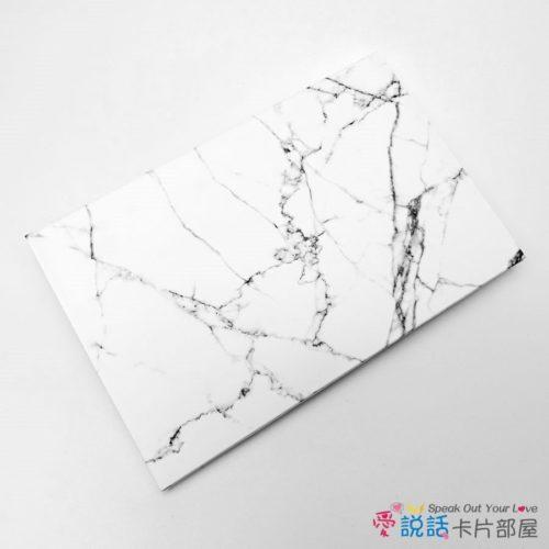 bw-marble-01愛說話錄音卡片-雕刻白大理石花紋,開合式錄音卡片禮物
