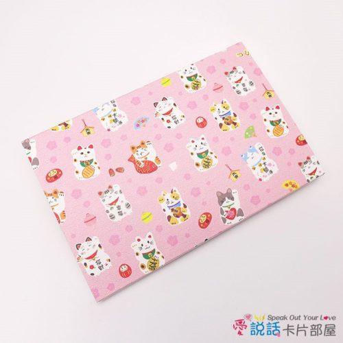 jp-cat-01愛說話錄音卡片-招財納福貓貓,開合式錄音卡片禮物