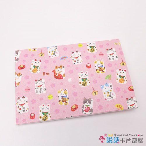 jp-cat-07愛說話錄音卡片-招財納福貓貓,開合式錄音卡片禮物