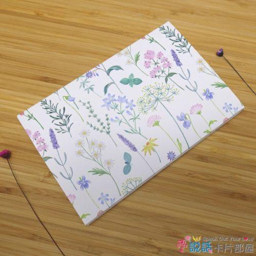 flower_04花草薰香錄音卡片-驚喜創意禮物,生日、情人節…